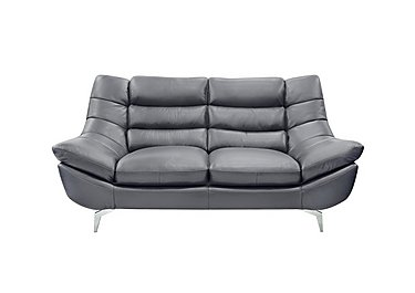 Contour 2 Seater Leather Sofa - Only One Left! in 220/42 Manhattan Steel on FV