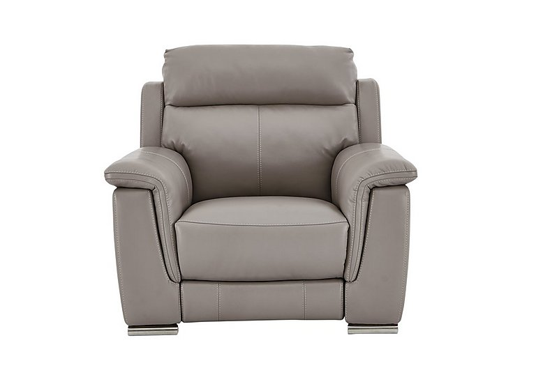 Glider Leather Armchair - Only One Left! in An-940b Light Taupe on FV