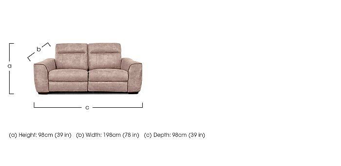 Paloma 3 Seater Fabric Sofa - Only One Left! in  on FV
