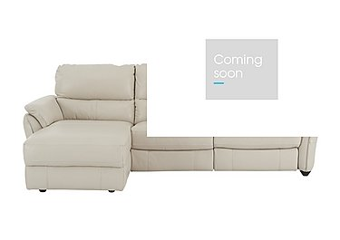 Salamander Leather Recliner Corner Sofa - Only One Left! in An-156e Frost on FV