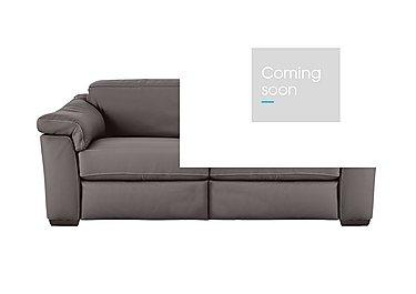 Sensor 2 Seater Leather Sofa - One Only Left! in Denver 10bk Dark Grey - Cs on FV