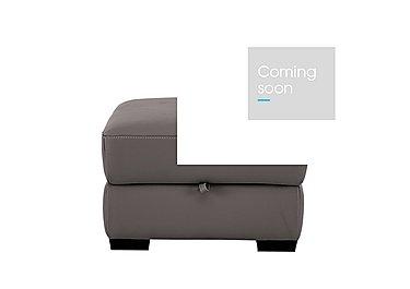 Sensor Leather Footstool - Only One Left! in Denver 10bk Dark Grey - Cs on FV