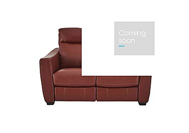 Compact Collection Midi 2 Seater Leather Recliner Sofa - Only One Left! in Nc-0008 Red on FV