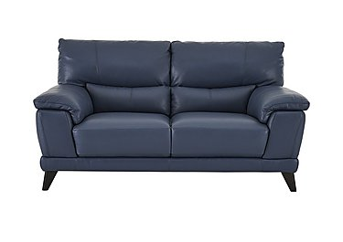 Pacific 2 Seater Leather Sofa - Only One Left! in Nc-313e Ocean Blue on Furniture Village