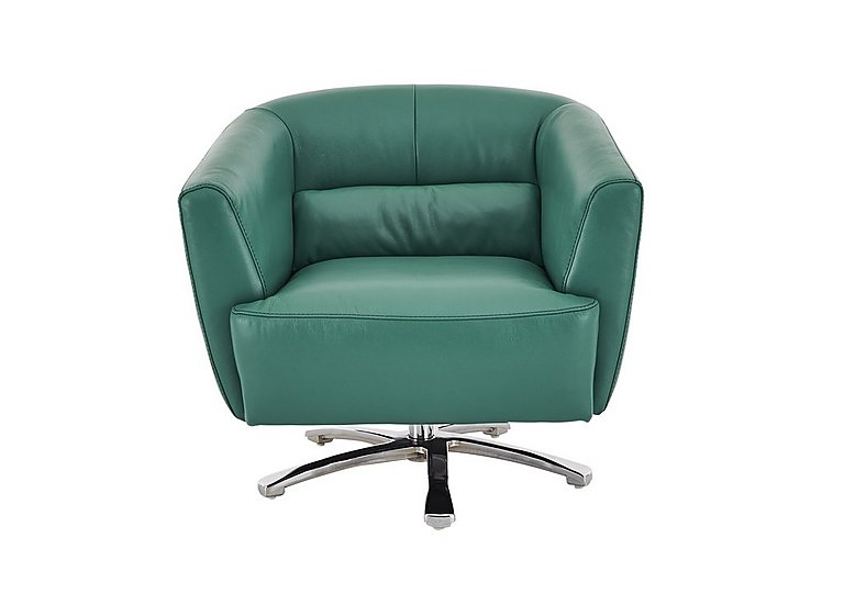 Spectrum Leather Swivel Chair - Only One Left! in Nc-314e Emerald on FV
