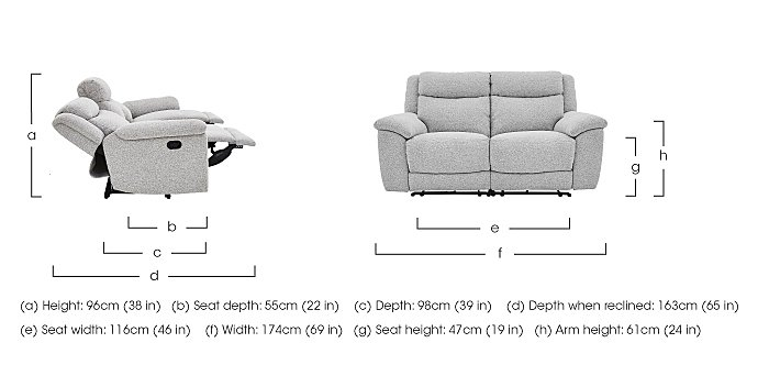 Bounce Pair of Fabric Power Recliner Sofas in  on FV
