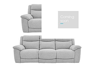 Bounce 3 & 2 Seater Fabric Manual Recliner Sofas in Chl-R21 Chilli Frost on FV