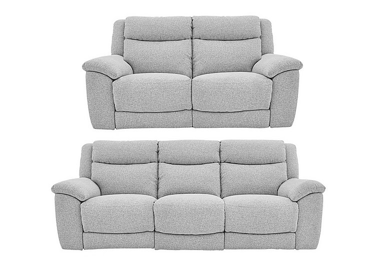 Bounce 3 & 2 Seater Fabric Manual Recliner Sofas