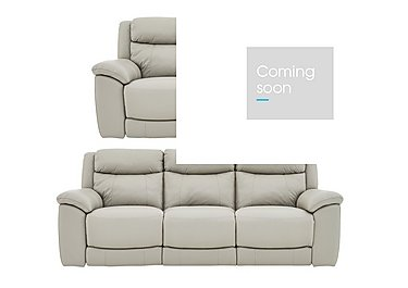 Bounce 3 & 2 Seater Leather Manual Recliner Sofas in Bv-946b Silver Grey on FV