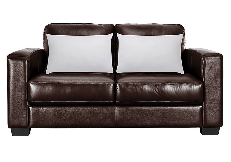 Dante 2.5 Seater Leather Sofa Bed with Clusterfull Pillows