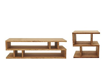 Elmari Coffee Table and Side Table in Light Oiled on FV