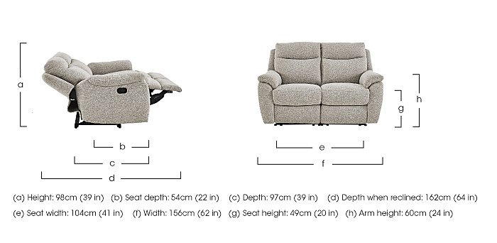 Snug Pair of 2 Seater Fabric Power Recliner Sofas in  on FV