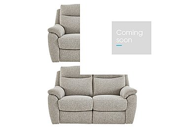 Snug Pair of 2 Seater Fabric Power Recliner Sofas in Fab Chl-R25 Chilli Biscuit on FV