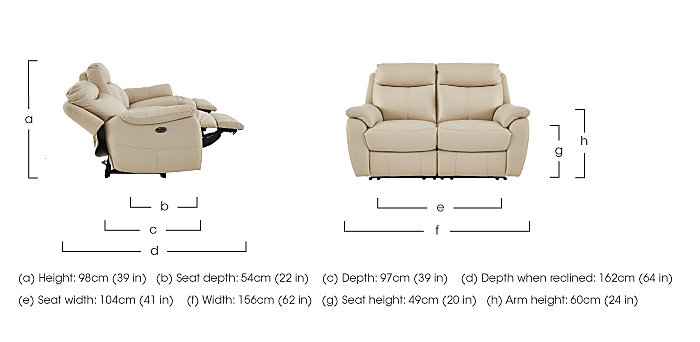 Snug Pair of 2 Seater Leather Manual Recliner Sofas in  on FV