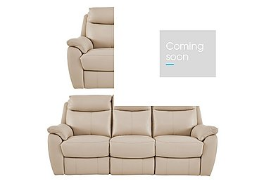 Snug 3 and 2 Seater Leather Manual Recliner Sofas in Bv-862c Bisque on FV