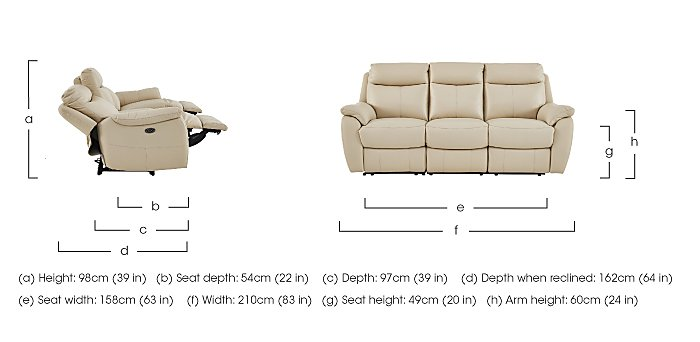 Snug Leather Manual Recliner 3 Seater Sofa and 2 Armchairs in  on FV