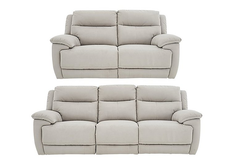 Touch 3 and 2 Seater Fabric Manual Recliner Sofas