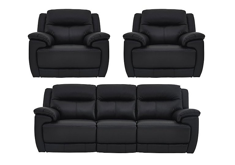 Touch Leather Power Recliner 3 Seater Sofa and 2 Armchairs