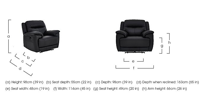 Touch Leather Manual Recliner 3 Seater Sofa and 2 Armchairs in  on FV