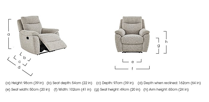 Snug Fabric Manual Recliner 3 Seater Sofa and 2 Armchairs in  on FV