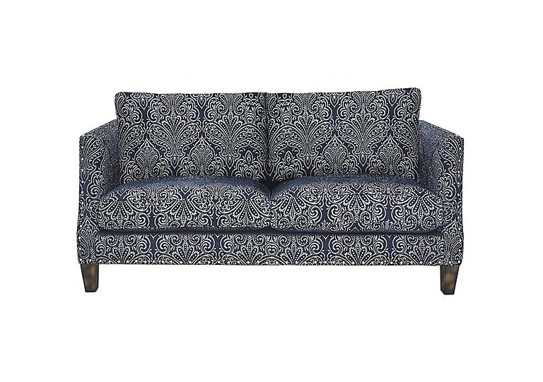 Genevieve 2 Seater Fabric Sofa with Stud Details in Garbo Damask Midnight Bg on FV