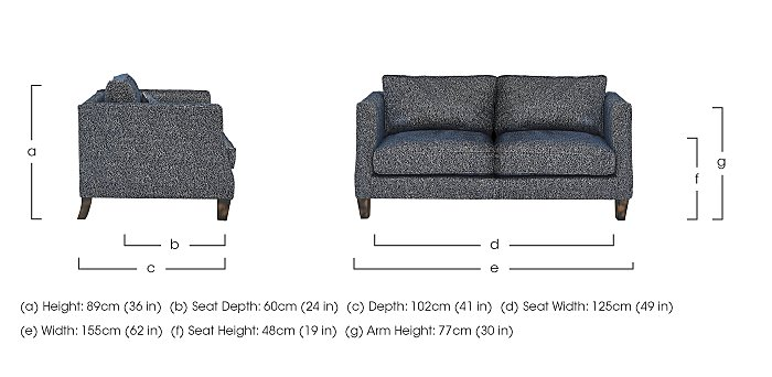 Genevieve 2 Seater Fabric Sofa in  on FV