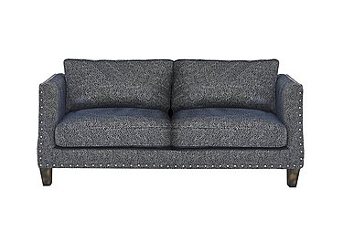 Genevieve 3 Seater Fabric Sofa with Stud Details in Garbo Mosaic Midnight Bg on FV