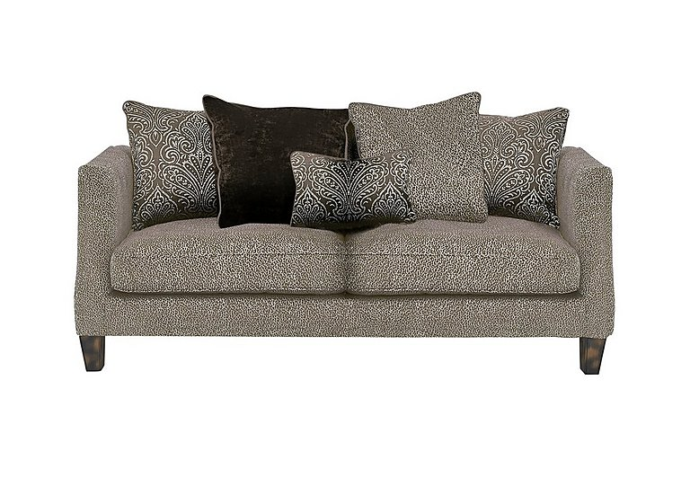 Genevieve 3 Seater Fabric Pillow Back Sofa