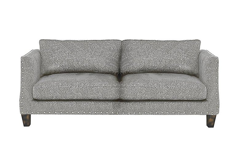 Genevieve 4 Seater Fabric Sofa with Stud Details
