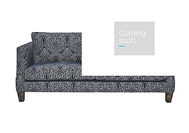Genevieve 4 Seater Fabric Sofa in Garbo Damask Midnight Bg on FV