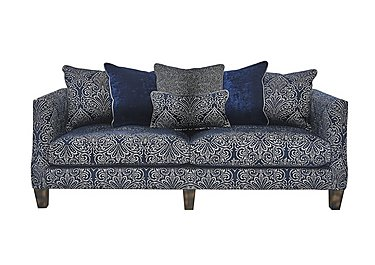 Genevieve 4 Seater Fabric Sofa in Garbo Damask Midnight Bg on FV