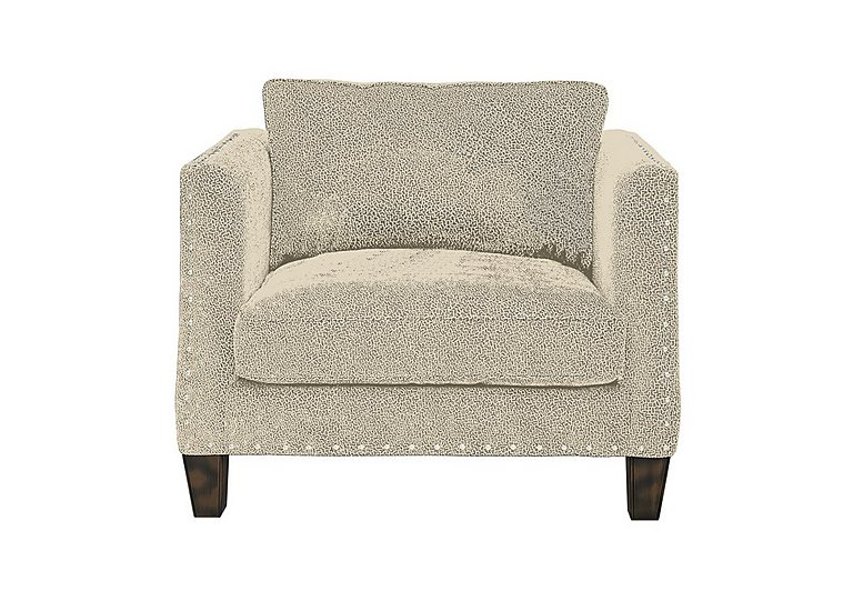Genevieve Fabric Snuggler Armchair with Stud Details