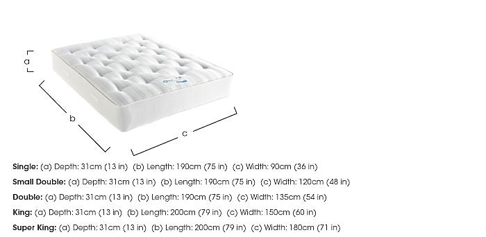 Myerpaedic Ortho Pocket 1400 Mattress in  on Furniture Village