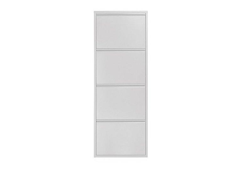 Felix Medium 4 Drawer Shoe Cabinet in White on FV