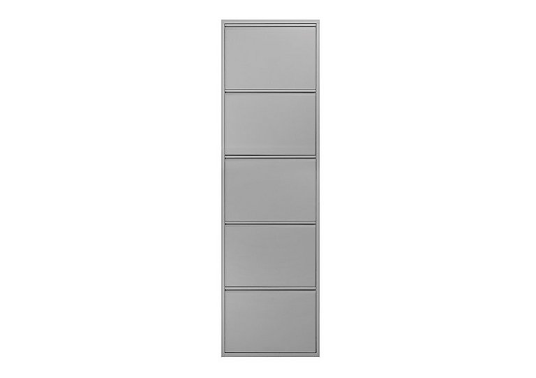 Felix Large 5 Drawer Shoe Cabinet in Grey on FV