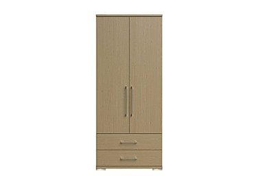 Amalfi 2 Door Gents Wardrobe in Aoov Odessa Oak/Oak Woodgrain on Furniture Village