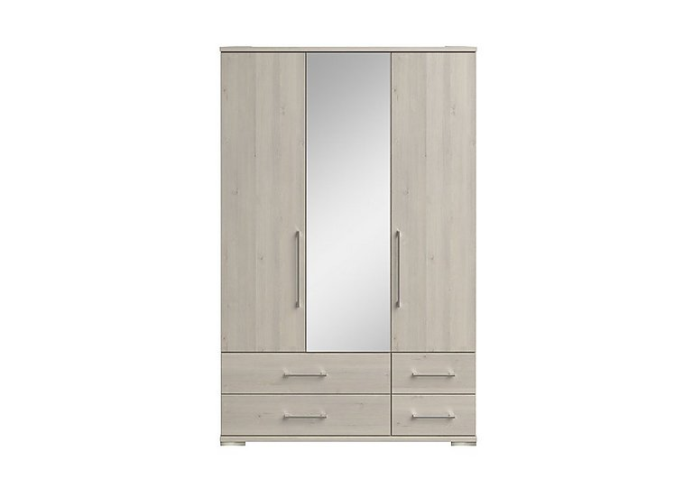 Amalfi 3 Door Centre Mirror Gents Wardrobe
