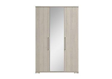 Grey wardrobes white slider mirrored furniture village for Furniture village wardrobes