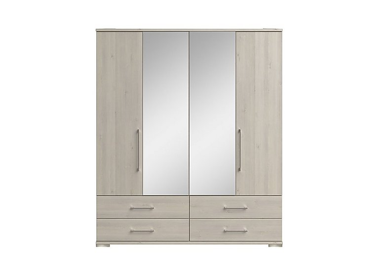 Amalfi 4 Door Centre Mirror Gents Wardrobe
