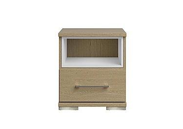 Amalfi 1 Drawer Nightstand in Aoov Odessa Oak/Oak Woodgrain on Furniture Village
