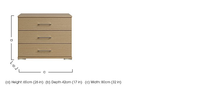 Amalfi 3 Drawer Large Chest in  on Furniture Village
