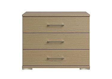 Amalfi 3 Drawer Large Chest in Aoov Odessa Oak/Oak Woodgrain on Furniture Village