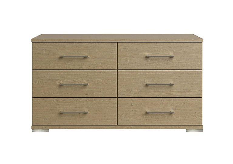 Amalfi 6 Drawer Chest in Aoov Odessa Oak/Oak Woodgrain on Furniture Village