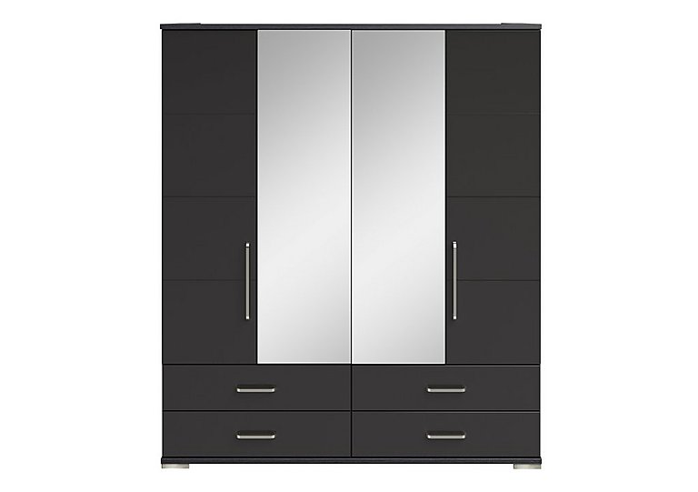Cordoba 4 Door Centre Mirror Gents Wardrobe