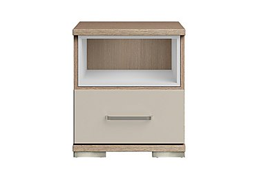 Cordoba 1 Drawer Bedside Table in Ckmv King Oak/Moonlight Gloss on FV