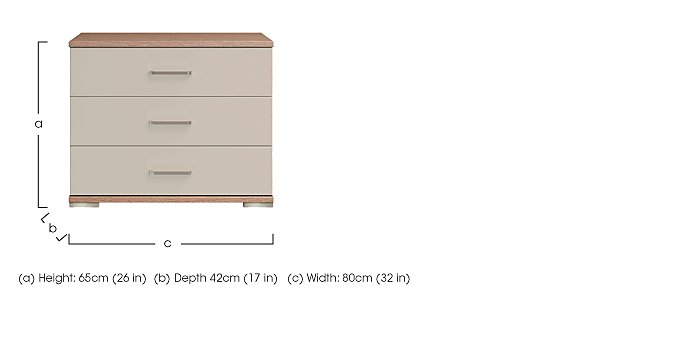 Cordoba 3 Drawer Large Chest in  on Furniture Village