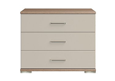 Cordoba 3 Drawer Large Chest in Ckmv King Oak/Moonlight Gloss on FV