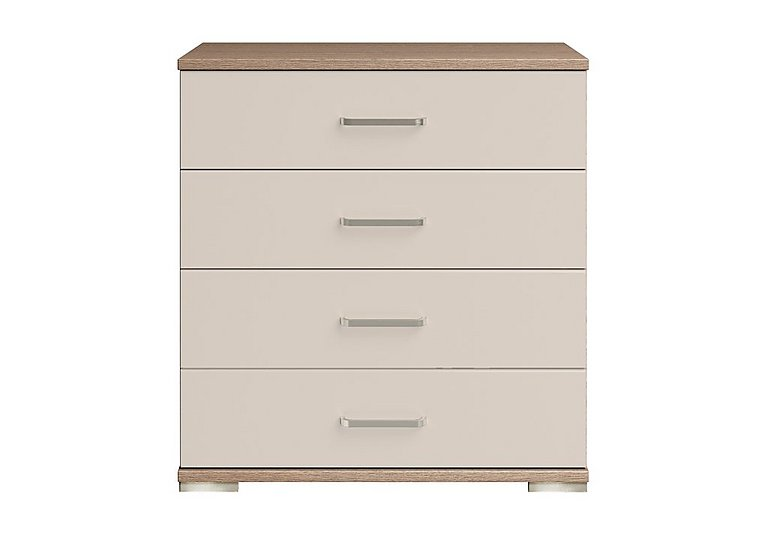 Cordoba 4 Drawer Large Chest in Ckmv King Oak/Moonlight Gloss on Furniture Village