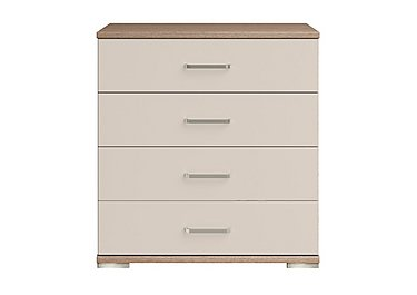 Cordoba 4 Drawer Large Chest in Ckmv King Oak/Moonlight Gloss on FV