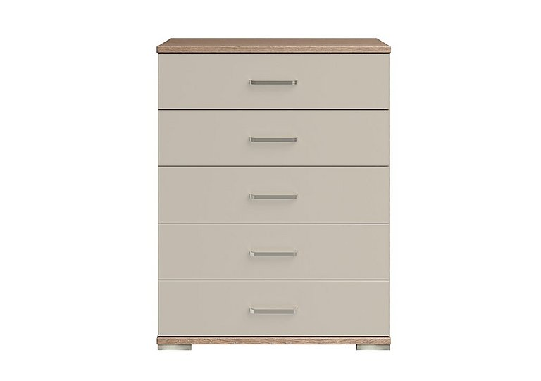 Cordoba 5 Drawer Large Chest in Ckmv King Oak/Moonlight Gloss on FV